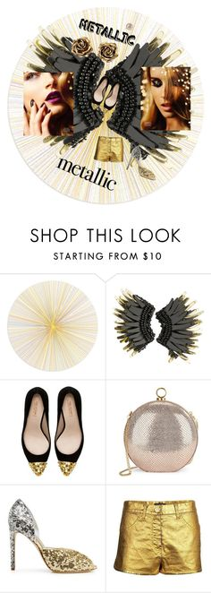 GOLDEN TREASURY by zazaofcanada on Polyvore featuring beauty, Mignonne Gavigan, Tiffany & Co., Halston Heritage, Chanel, Zara and Tisch New York  #metallicmakeup #gold #or #golden #makeup #roses #flower #stiletto #sequin