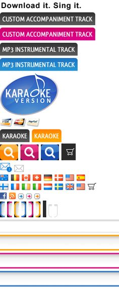 Awesome site to get karaoke versions of songs so you can get an idea of what a song would sound like without vocals for wedding processional etc. Singing Lessons, Singing Tips, Music Lessons, Karaoke Songs, Karaoke Tracks, Teacher Sites, Alphabet Songs, School Songs, Music Education