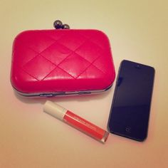 Red quilted convertible shoulder clutch Vegan leather red quilted shoulder clutch. Convertible from a clutch to a shoulder bag. Such a cute investment piece. Also available in black. boutique Bags Clutches & Wristlets