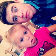 Nash Grier and his sister....i love him and his sister #nashnotice