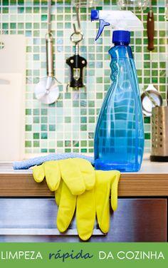Organize sem frescuras!: Limpeza rápida da cozinha