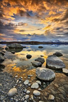 Sunset on Lake Tekapo by Pepeketua, via Flickr
