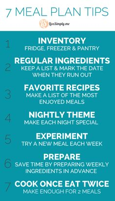 Best of Meal Planning Tips