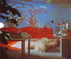 Robert Ryman, Retro Interior Design, Retro Futurism, Decoration, Interior And Exterior, Really Cool Stuff, Room Decor, House Design, Painting