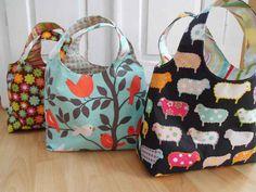 Taschen - Schnittmuster Taschen - Wendetasche - ein Designerstück von…