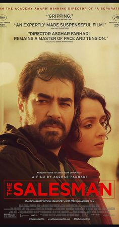 Directed by Asghar Farhadi. With Taraneh Alidoosti, Shahab Hosseini, Mina Sadati, Babak Karimi. Forushande (The Salesman) is the story of a couple whose relationship begins to turn sour during their performance of Arthur Miller's Death of a Salesman.