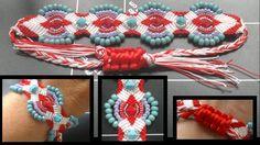 Beading4perfectionists : Micro macrame bracelet with 6mm swarovski & see...