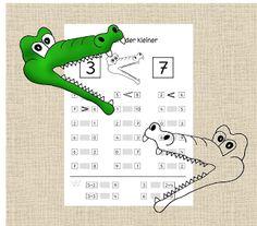 http://fraulocke-grundschultante.blogspot.de/2013/12/groer-und-kleiner.html?spref=pi: Lehrer Blog, Lehrerblog Frau Locke: Größer und kleiner, Mengenverständnis, Menge erfassen, mehr und weniger und gleich viel, mit Zeichen wie Krokodil größer kleiner gleich, Mathe, Klasse 1, Vorschule