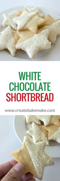 I love making Shortbread in the lead up to Christmas and this White Chocolate Shortbread has quickly become one of my new favourite recipes! Chocolate Shortbread Recipe, Shortbread Recipes, Cookie Recipes, Dessert Recipes, Baking Recipes, Xmas Food, Christmas Cooking, Biscuits, Biscuit Cookies