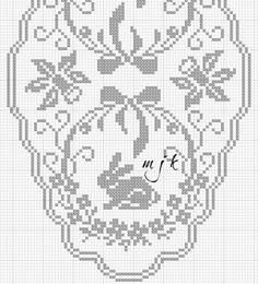 Gallery.ru / Фото #83 - μαιος 2015 - ergoxeiro Filet Crochet Charts, Crochet Stitches, Knit Crochet, Easter Crochet Patterns, Crochet Borders, Crochet Tablecloth, Crochet Doilies, Embroidery Patterns, Cross Stitch Patterns
