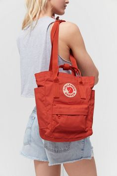 Shop Fjallraven Kånken Mini Tote Pack at Urban Outfitters today. Shoe Shop, Kanken Backpack, Organic Cotton, Men's Shoes, Urban Outfitters, Packing, Backpacks, Man Shop, Zip