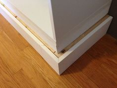 Big Besta Built-ins - IKEA Hackers Adding base to create a built in look. Small Basement Remodel, Basement Remodeling, Basement Plans, Basement Storage, Basement Gym, Modern Basement, Bedroom Remodeling, Basement Kitchen, Basement Ideas