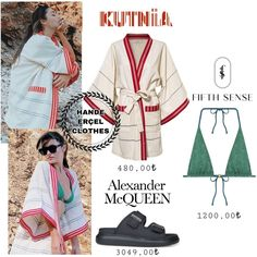 Aesthetic Movies, Trendy Dresses, Dress Outfits, Alexander Mcqueen, Kimono Top, Clothes, Style, Fashion, Beach