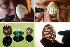 Franc Grom eggshell-art. @Molly McKeon I have a Dremel... think we could manage this? LOL