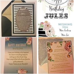 Personalized Birthday Cards #custom #personalized #birthday #greetingcards #papergoods #graphicdesigner #graphics #design #designer  #yourexperiencematters #jodesigns__  For Pricing link is on the bio.