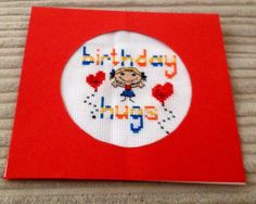 Cross stitch Birthday card