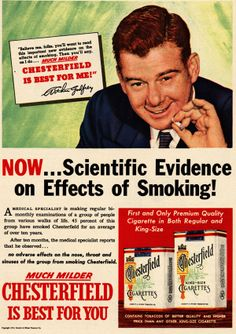 Godfrey died of emphysema, brought on by lung cancer.  Godfrey terminated his relationship with Chesterfield after he quit smoking, five years before he was diagnosed with lung cancer in 1959. Subsequently, he became a prominent spokesman for anti-smoking education.