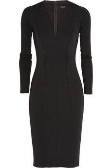 Donna Karan Seamed crepe-jersey dress | NET-A-PORTER