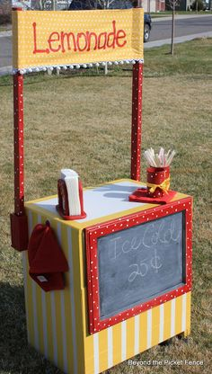 Lemonade stand from old tv cart