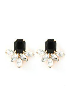 Deco Aife Earrings in Jet//