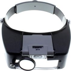 $9.97 - Deluxe LED Lighted Visor Magnifier w/Eye Loupe. This Visor magnifier actually has 3 magnification portions, providing 2.2 to 4.8x magnification. Acrylic Lenses.