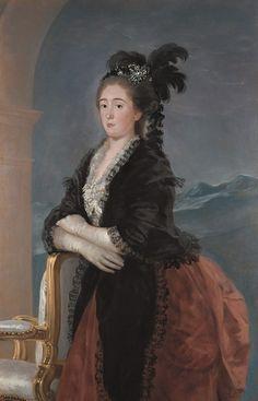 """Francisco de Goya: """"Doña María Teresa de Vallabriga"""". Oil on canvas, 151,2 x 97,8 cm, 1783. Alte Pinakothek, München, Germany"""