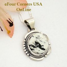 Four Corners USA Online - White Buffalo Turquoise Pendant Necklace Navajo Artisan Cathy Yazzie NAP-1627, $96.00 (http://stores.fourcornersusaonline.com/white-buffalo-turquoise-pendant-necklace-navajo-artisan-cathy-yazzie-nap-1627/)