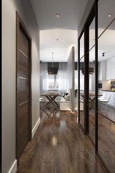 прихожая в интерьере квартиры-студии 30 кв. м.