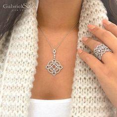 Diamond Pendant by Gabriel & Co. Order it Now!