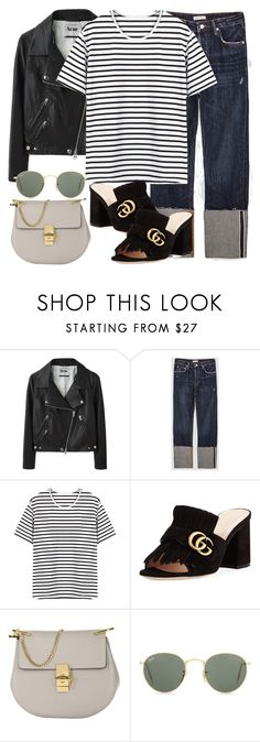 """Untitled #3164"" by elenaday on Polyvore featuring Acne Studios, Gucci, Chloé and Ray-Ban"