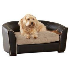 Enchanted Home Pet Remy Pet Sofa Bed, 34 by 19.5 by 14.75-Inch, Black   DoggySleepWorld.com