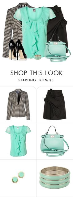 """""""Bright Top and Black Skirt"""" by daiscat ❤ liked on Polyvore featuring Frankie Morello, 3.1 Phillip Lim, Vero Moda, Fendi, Jimmy Choo, Marc by Marc Jacobs, Forever 21, women's clothing, women's fashion and women"""