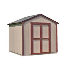 Handy Home Products Kingston 8 ft. x 8 ft. Wood Shed Kit with Floor Frame-18362-1 - The Home Depot