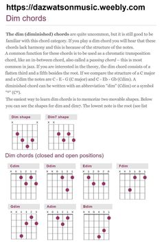 Guitar chord charts for all chords Guitar Chord Sheet, Blues Guitar Chords, Acoustic Guitar Chords, Guitar Chords Beginner, Easy Guitar Songs, Guitar Chords For Songs, Music Chords, Fingerstyle Guitar, Guitar Scales