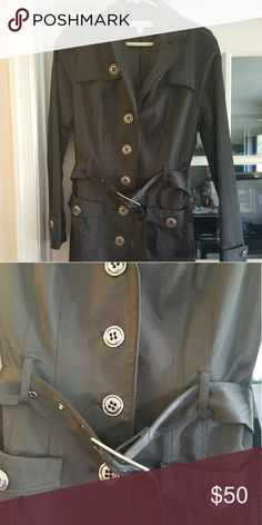 NY & CO Black trench coat Good condition.  Removable belt, has belt loops. Recently dry cleaned. I offer discounts on multiple items in my closet! New York & Company Jackets & Coats Trench Coats