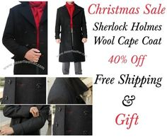 On This Christmas 2016!! Now Sherlock Holmes Coat for Sale. Get Benedict Cumberbatch Coat in Discounted Price at Our Online Store!!!  #SherlockHolmes #TVdrama #BenedictCumberbatch #MerryChristmas #christmasDeal #christmasSale #ChristmasShopping #Celebrity #Fashion #Cosplay #geektyrant #geek #sale #Shopping #WinterCostume #Onlineclothingstore #Mensfashion #Mensclothing