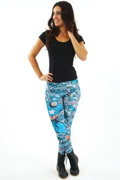Captain America 50s Hero Leggings $70 AUD