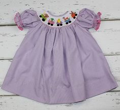 Bunny Train Dress-what my daughter would have worn. :)