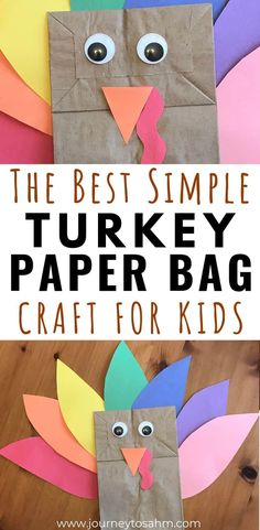 Simple Paper Bag Turkey Craft for Toddlers and Preschoolers