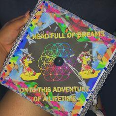 Coldplay inspired graduation cap