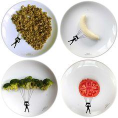 New Sport Dinner Plates For Interactive Food Fun By Designer Boguslaw Sliwiński.