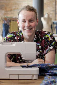 Ryan, 21 years old, London. Ryan is the youngest sewer to ever step foot into the #sewing room aged just 20 years old when the series was filmed. He started sewing at the age of 7 and hasn't looked back since. He finds his solace sitting at home watching a good movie and sewing #GBSB #GreatBritishSewingBee