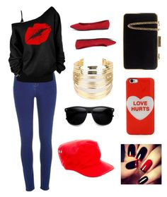"""""""Love hurts"""" by leyna-yost ❤ liked on Polyvore featuring beauty, River Island, M&Co, Breckelle's, MICHAEL Michael Kors, WithChic, Gucci and Marc Jacobs"""