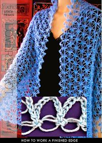 Discover thousands of images about DiaryofaCreativeFanatic: Needlecrafts - Crochet, Lover's Knot Stitch Crochet Cardigan, Crochet Shawl, Free Crochet, Knit Crochet, Lace Knitting, Knitting Stitches, Lace Patterns, Crochet Patterns, Beginner Knitting Patterns