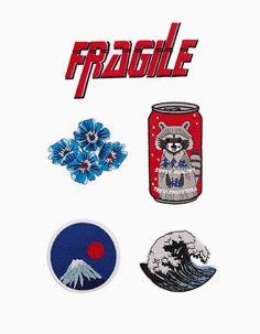 Set 5 parches fragile