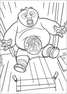 Kung Fu Panda Tegninger til Farvelægning. Printbare Farvelægning for børn. Tegninger til udskriv og farve nº 28