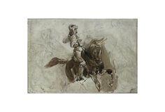 Eugène Delacroix, Armored Figure on Horseback, 1828