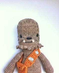 This is a PDF CROCHET PATTERN, NOT THE FINISHED DOLL. Chewbacca, is my original version of the Star Wars saga movie character so you can crochet