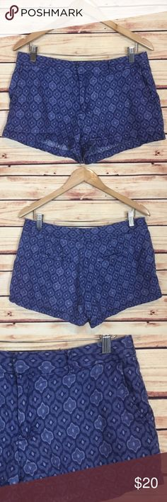 "Cynthia Rowley Blue Ikat Shorts Linen Size 6 Cynthia Rowley shorts. Blue. Ikat print. Front and back pockets. Front zip. Boho festival wear. Size 6.  Excellent preowned condition with no flaws.  Measurements are approximately: 32"" waist, 38"" hip, 9"" rise, and 3"" inseam.   100% linen.  No trades. All items come from a pet friendly, smoke free home. Bundle to save! Cynthia Rowley Shorts"