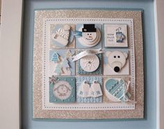 What a cute Stampin' Up! Collage by Penny Thomas at penguinstamper: Winter Stampin' Sampler. A great gift! Christmas Paper Crafts, Handmade Christmas, Xmas Cards, Holiday Cards, Winter Karten, Snowman Cards, Theme Noel, Candy Cards, Winter Cards